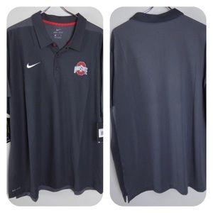 Nike Dri-Fit Ohio State Buckeyes OSU Polo Shirt
